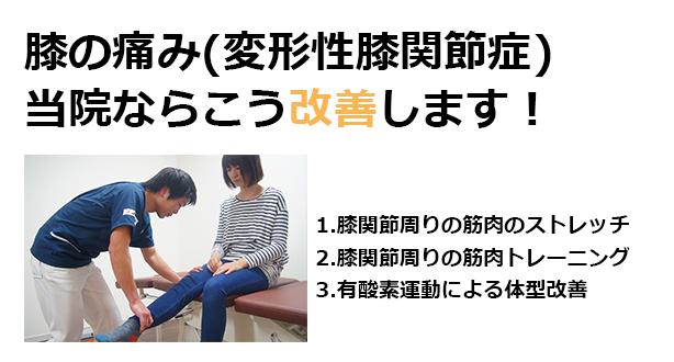 膝の痛みを当院ならこう治療します
