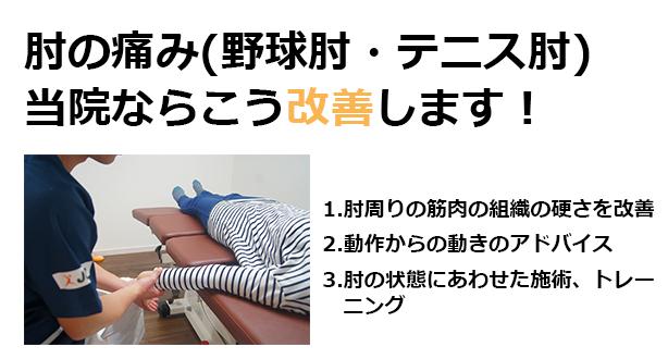 肘(野球肘、テニス肘)当院ならこう治療します