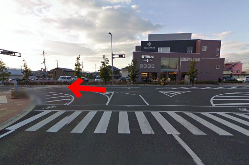 T字路を左折