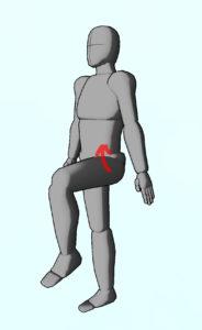 整体ストレッチ 腸腰筋3
