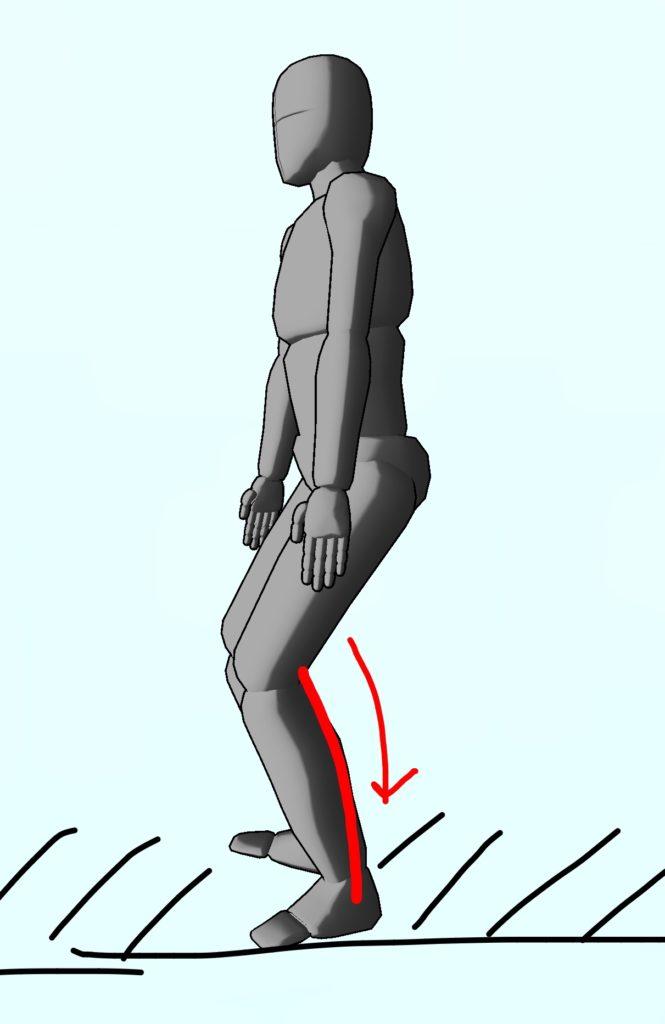 整体ストレッチ 下腿三頭筋2